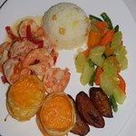 Garlic shrimp and sides. WOW!