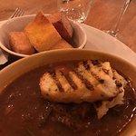 Stew with fried polenta