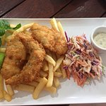 come early for lunch, fish and chips - DELICIOUS - goes fast!