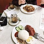 Nasi Lemak and Char Kway Teow - quintessential Malaysian food