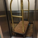 To be fair the cart did fit inside an additional, newer elevator at the hotel.