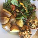 Feta, chard & olive tarts.