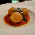 Deep fried risotto balls - don't miss