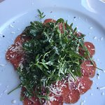 Beef carpaccio and king prawns for starter and sirloin for mains. Wonderful food would recommend