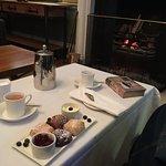 Cream tea beside the fire
