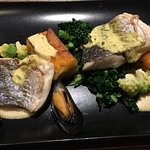 Curried fillet of bream