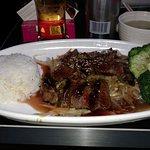 Beef Teriyaki. Includes rice, mixed vegatitable and beef