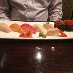 Yummy selection off the sashimi/ nigiri menu