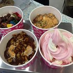Gourmet Frozen Yogurt with delicious toppings for every taste
