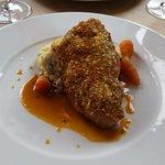 Pork loin chop, sage crust, colcannon mash, apple and sage sauce