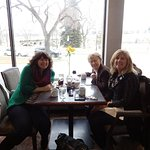 This is a picture of my mother and myself and my niece visiting from BC. enjoying breakfast out