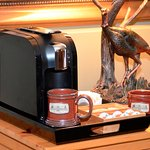 Wild Turkey's coffee station