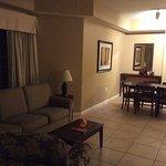 Living room of three-bedroom condo
