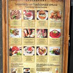 The display menu for the Garden Restaurant