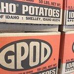 Fresh Idaho potatoes