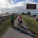 Enjoying the day in the Florida keys with Great Bike tours! The best.