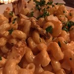 Mushroom artichoke ragu; Chicken Tuaca; buffalo mac and cheese.