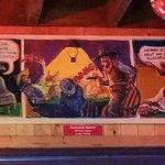 Nickel Charlie's Comic on Back Wall