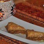 Baklava for dessert.