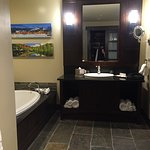 Huge Bathroom with Tub, shower and heated floor