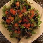 The mixed salad appetizer - enough salad for two