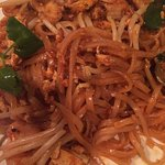 Basil Thai has wonderful pad Thai noodles -- as photographed on their menu.