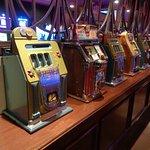 Vintage slots on display
