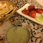 Garlic Naan and Chicken Tikka