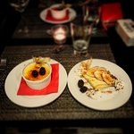 Delicious Lemon Creme Brulee and Banana Foster!