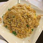 Chicken Fried Rice, Ginger Beef, Deep Fried Squid, Egg Yolk Custard Bun & Shrimp Dim Sum