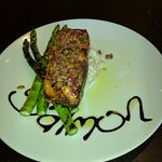 Wonderful salmon entree at Gracie's Place.