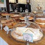 Homemade cake selection