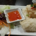 Starter...Calamari....love that sauce