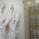 Robes and towel warmer