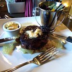 Fillet steak with blue cheese butter :) YUM!!!