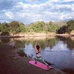 Yoga by Mara river