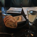 Complementary bread and champaign