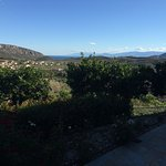 Looking out from the balcony towards Nafplio.