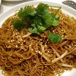 Fried noodles with soya sauce in Hong Kong style