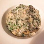 wild mushroom risotto, Italian wife said over-cooked