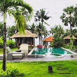 Pool view from the private villa of Relax Bali Villa Residence