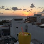 Sundowners on the roof at Casa Sirena. Delicious and relaxing.