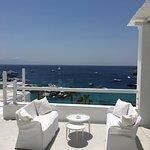 Mykonos Blu breakfast terrace