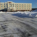 This was so beautiful with all the snow around the hotel. The Hampton Inn is really an amazing p