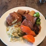 Lovely Roast Beef dinner this Sunday at The Vale. Gravy to die for.