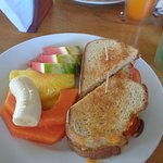 Delicious grilled cheese and fruit