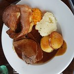 This is the Sunday dinner, not a giant Yorkshire pudding meal
