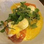 Eggs with smoked salmon 6.70£