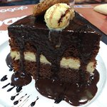 El super bizcocho de chocolate. Es de una cuarta de alto!!!
