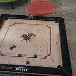 pigeon droppings on carrom board
